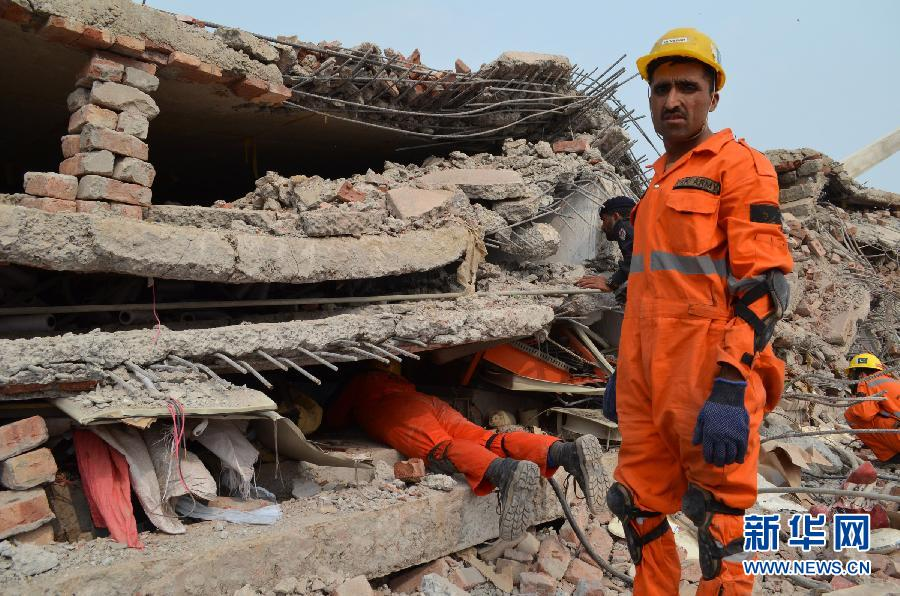 (国际)(1)巴基斯坦东部工厂大楼倒塌死亡人数升至29人
