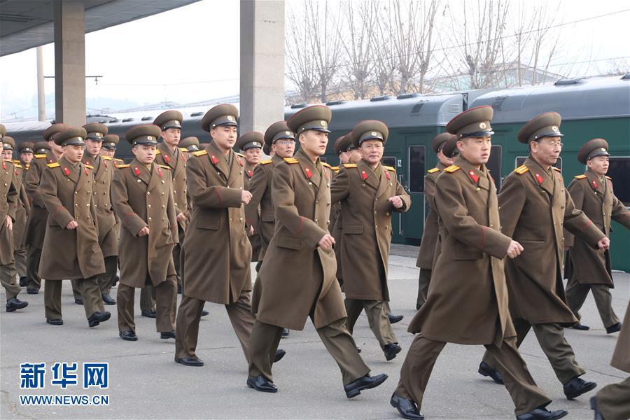 (XHDW)(1)朝鲜功勋国家合唱团和牡丹峰乐团启程访华