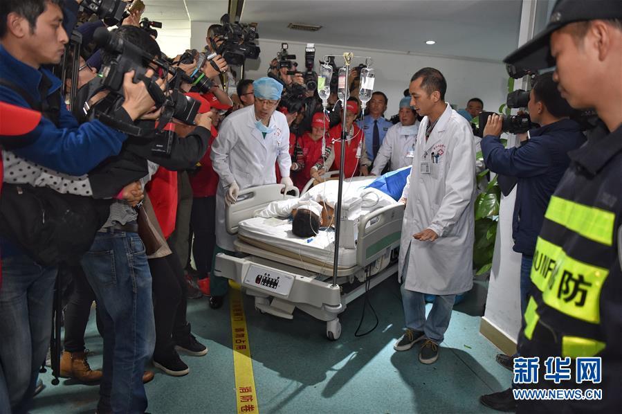 (深圳滑坡)(3)第一位幸存者手术结束