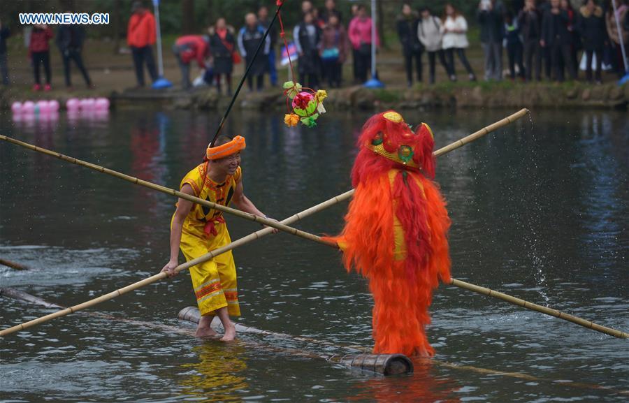 CHINA-GUIZHOU-BAMBOO DRIFTING-NEW YEAR CELEBRATION (CN)