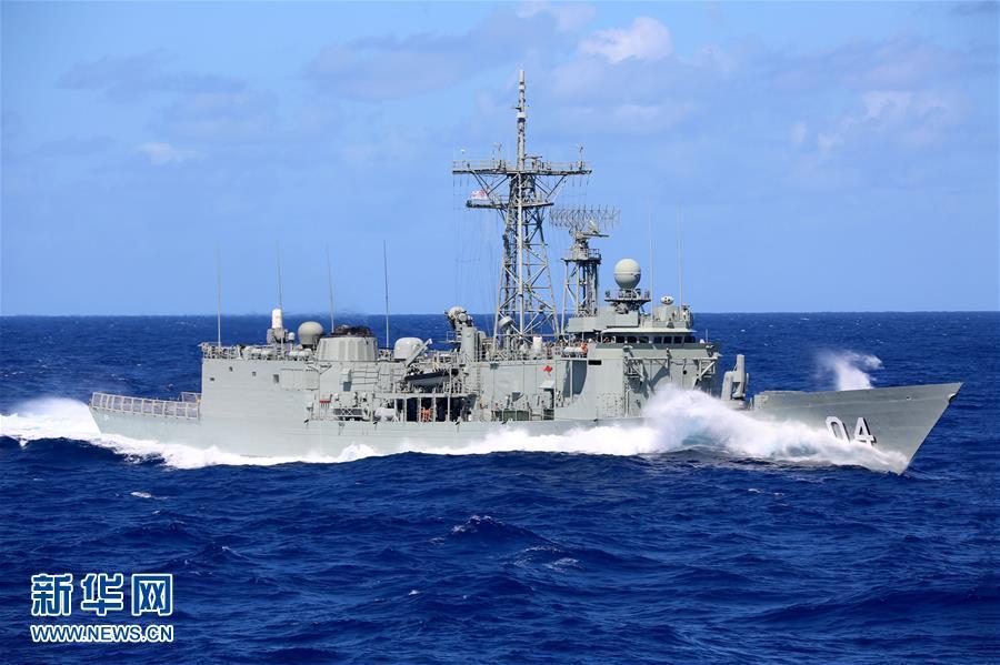 (XHDW·图文互动)(1)中澳海军在南太平洋举行联合演练