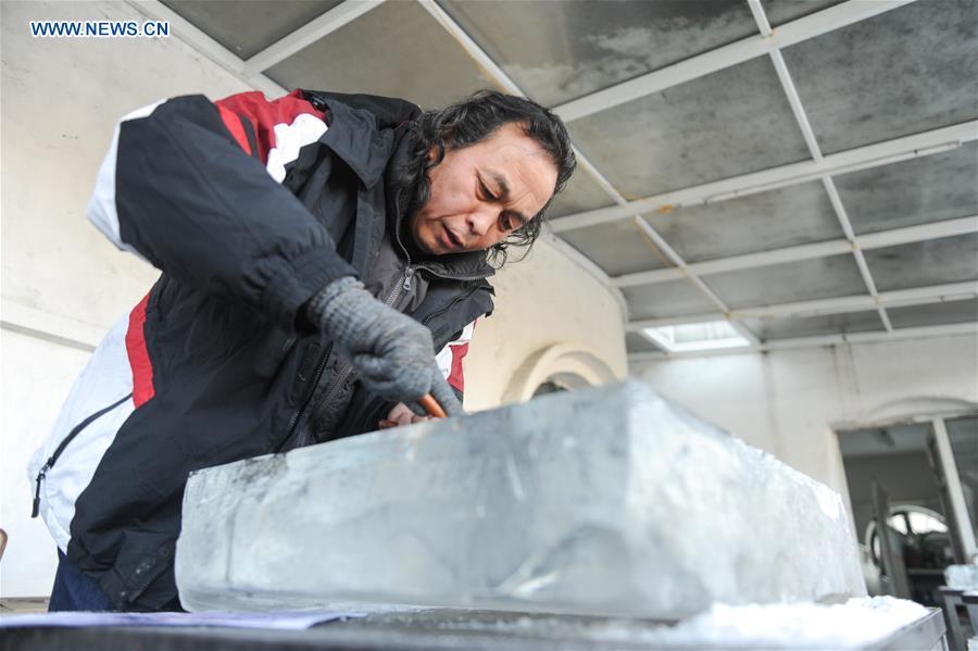 CHINA-HARBIN-ICE-ENGRAVING PAINTING (CN)