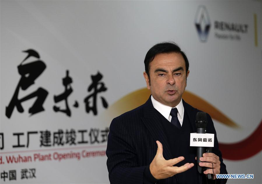 Renault's CEO Carlos Ghosn attends the opening ceremony of Dongfeng-Renault Automotive Co., Ltd. in Wuhan, China's auto hub in the central province of Hubei, Feb. 1, 2016.
