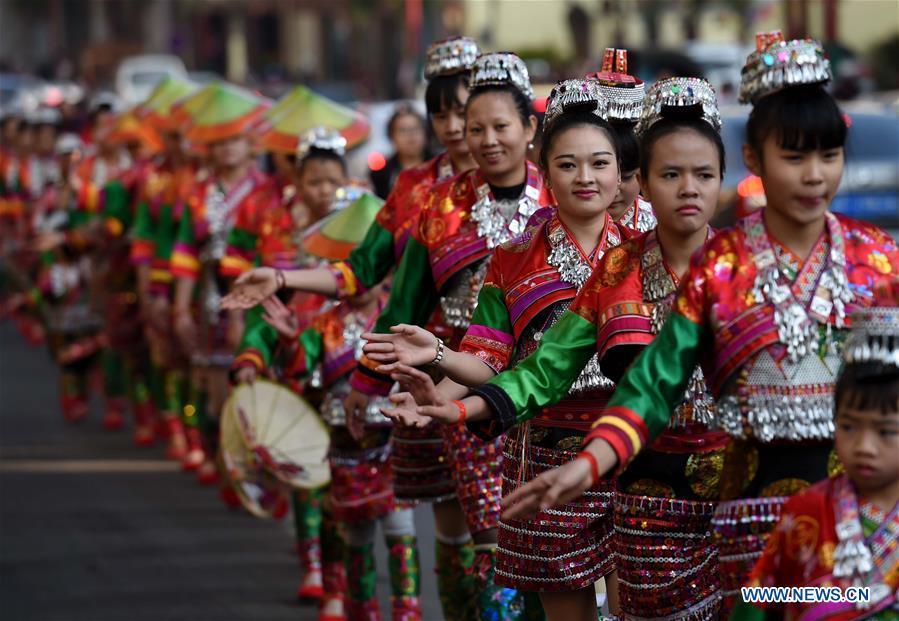 CHINA-YUNNAN-XINPING-HUAYAO DAI ETHNIC GROUP-HUAJIE FESTIVAL (CN)