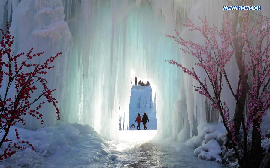 CHINA-HEBEI-SHIJIAZHUANG-FROZEN WATERFALL(CN)
