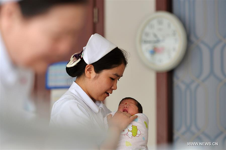 The hospital saw baby boom at the beginning of the Chinese Lunar New Year, with 352 babies born from Feb. 8 to 15
