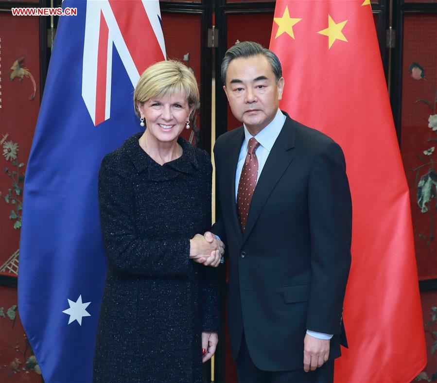 Wang and Bishop attended the third round of bilateral diplomatic and strategic dialogue in Beijing on Wednesday.