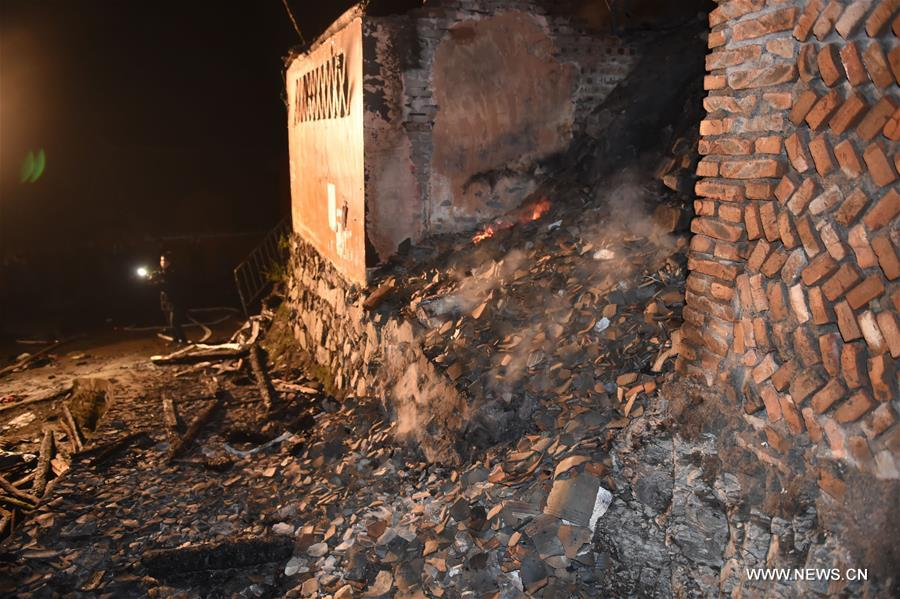 A fire broke out Saturday evening in the village, affecting 120 people and damaging more than 60 houses.