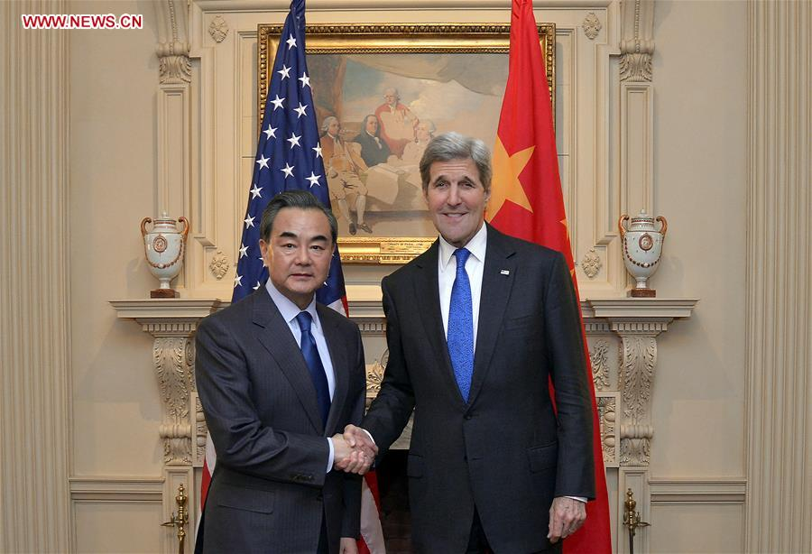 U.S.-WASHINGTON D.C.-CHINA-FM-WANG YI-KERRY-MEETING