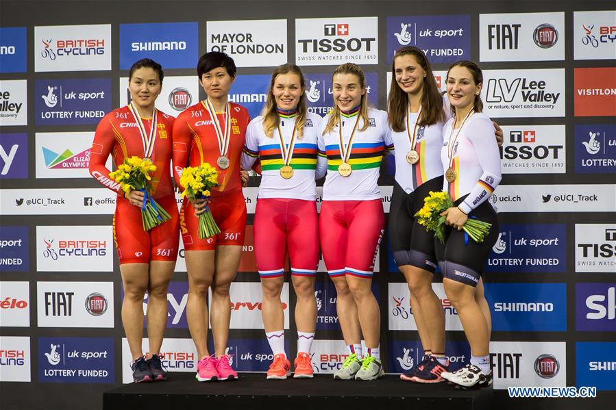 (SP)BRITAIN-LONDON-TRACK CYCLING-WORLD CHAMPIONSHIPS