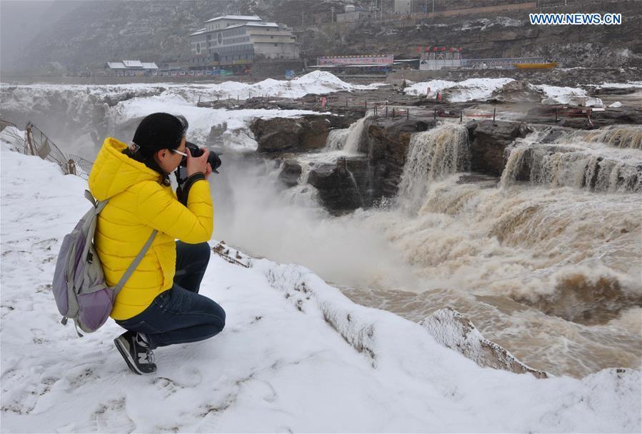 #CHINA-SHANXI-HUKOU WATERFALL-SNOW (CN)