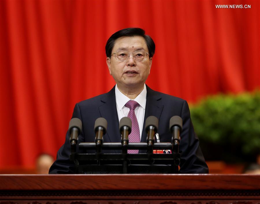 (TWO SESSIONS)CHINA-BEIJING-NPC-2ND PLENARY MEETING-ZHANG DEJIANG (CN)