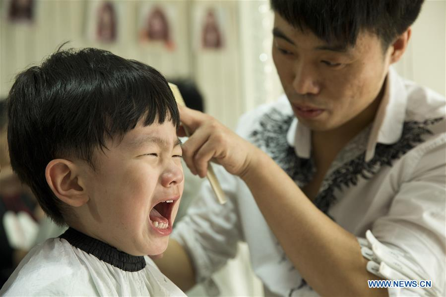Chinese People Mark Longtaitou Festival With Haircut 9 Peoples