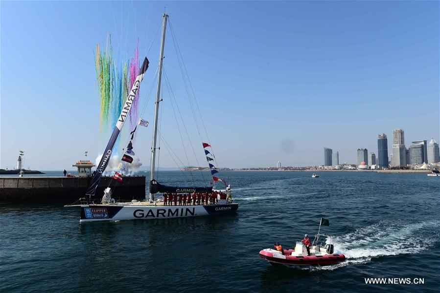 (SP)CHINA-QINGDAO-YACHT-CLIPPER ROUND THE WORLD RACE