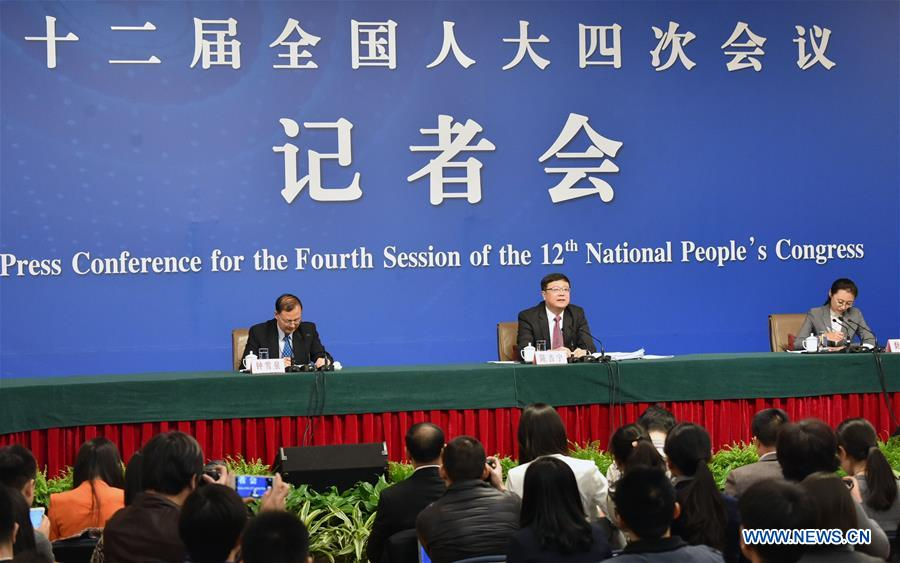 **(TWO SESSIONS)CHINA-BEIJING-NPC-PRESS CONFERENCE-ENVIRONMENTAL PROTECTION (CN)