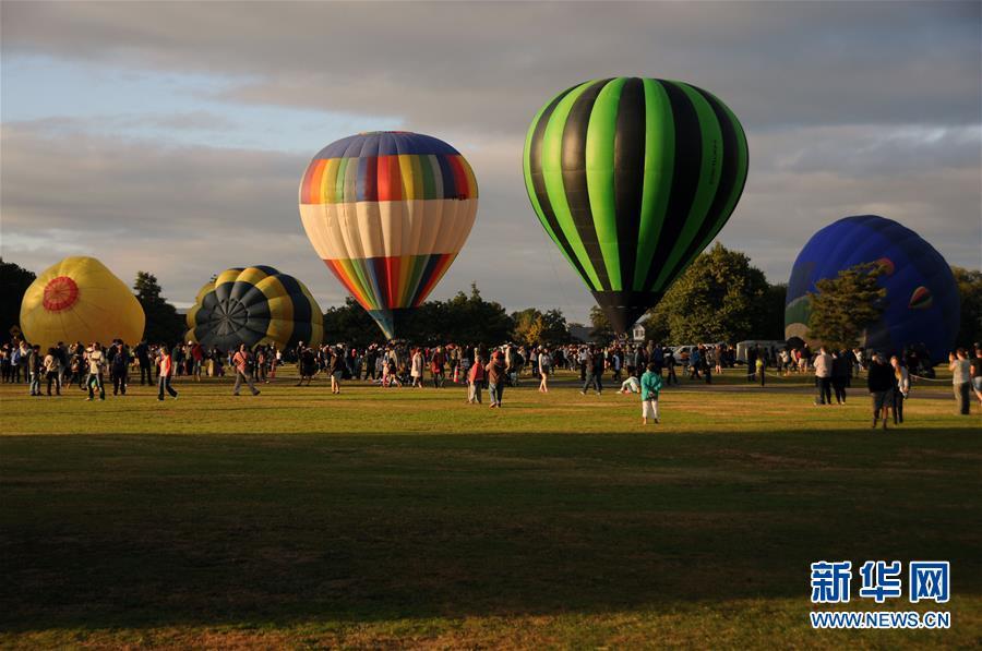 (国际)(1)新西兰怀卡托国际热气球节闭幕