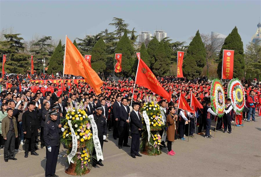CHINA-QINGMING FESTIVAL-MARTYR-COMMEMORATION(CN)