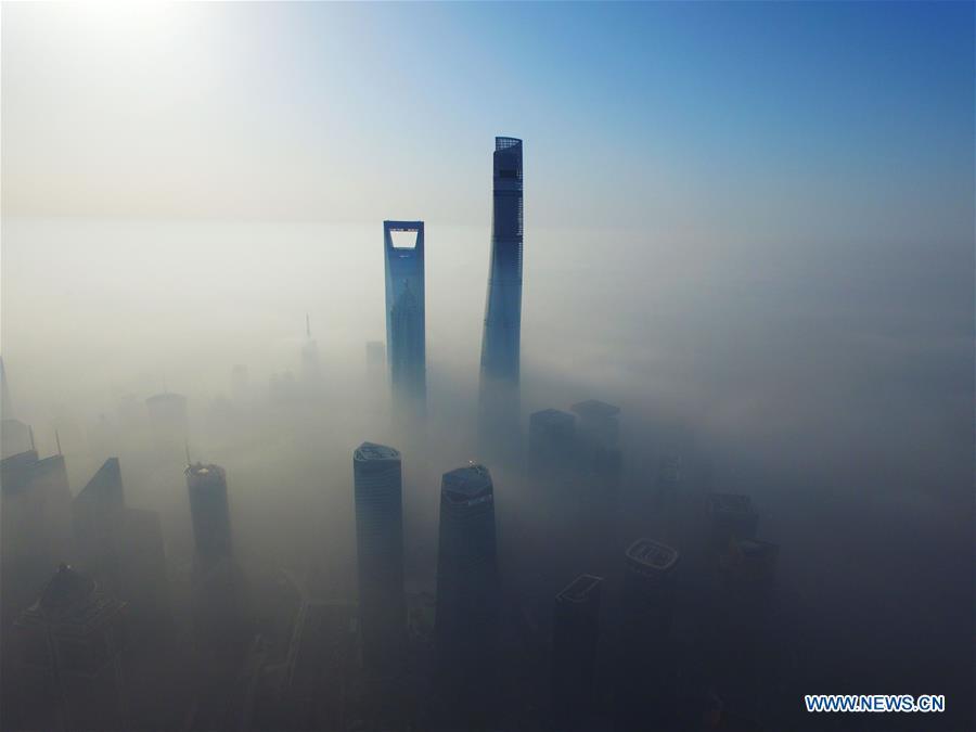 Shanghai shrouded by heavy fog