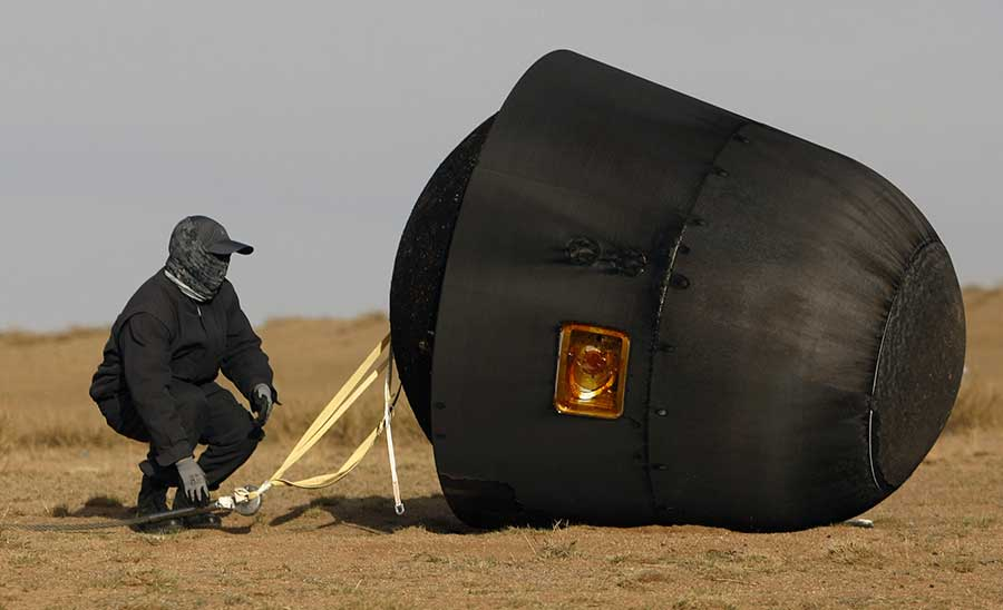 Capsule returns safely after 12-day odyssey