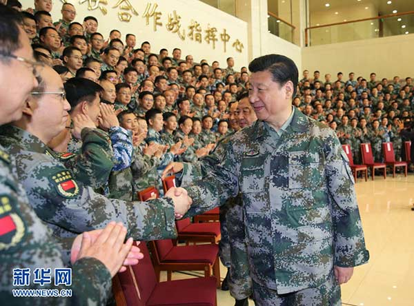 Xi urges stronger PLA