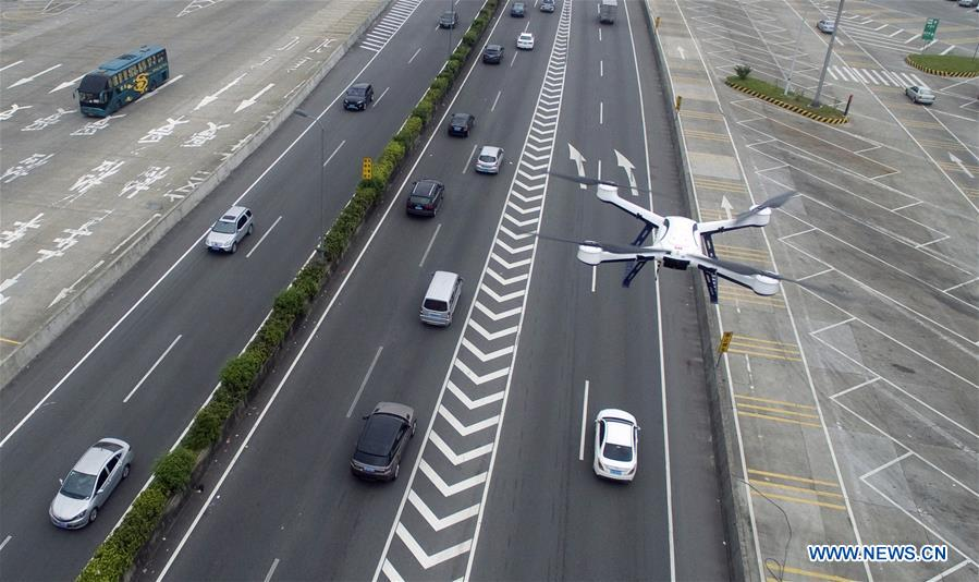 CHINA-GUANGDONG-TRAFFIC POLICE-DRONE (CN)