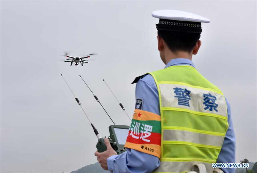 CHINA-GUANGDONG-TRAFFIC POLICE-DRONE (CN)