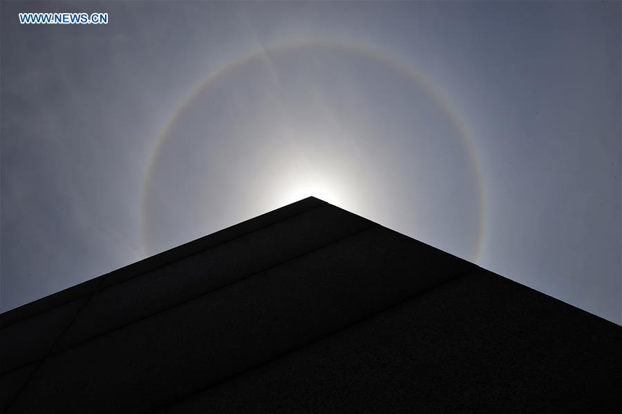 Solar halo appears in China's Ningbo