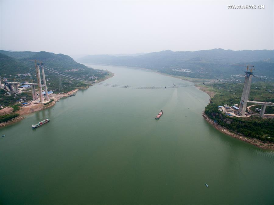 CHINA-CHONGQING-FUMA YANGTZE RIVER BRIDGE-CONSTRUCTION (CN)