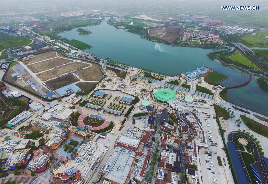Aerial photos of Shanghai Disney Resort