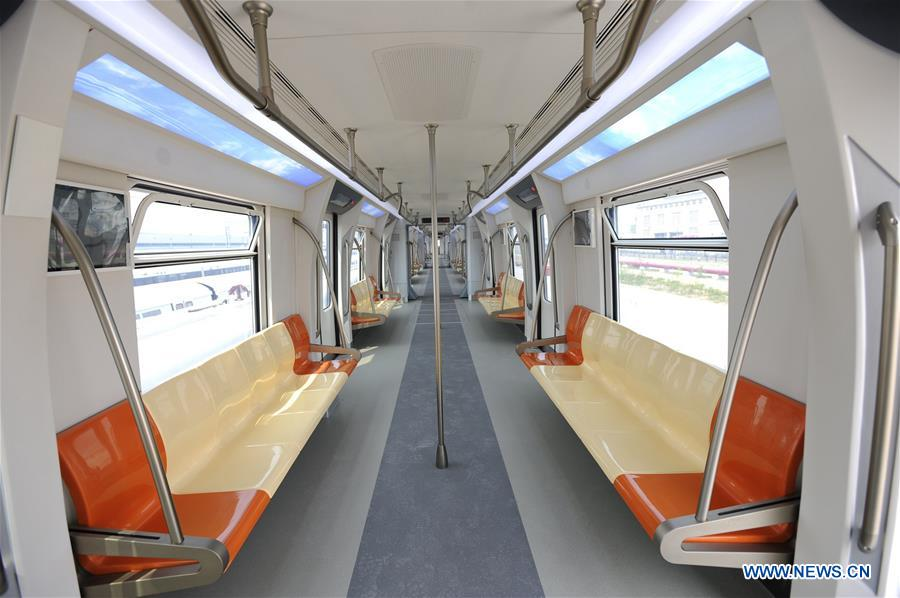 #CHINA-QINGDAO-PERMANENT MAGNET STRADDLED MONORAIL VEHICLE (CN)