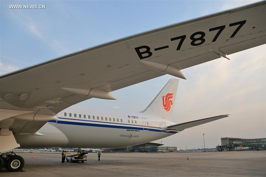 Air china receives 1st boeing 787 9 dreamliner 4 peoples daily correctionchina beijing air china boeing 787 9 dreamliner publicscrutiny Images