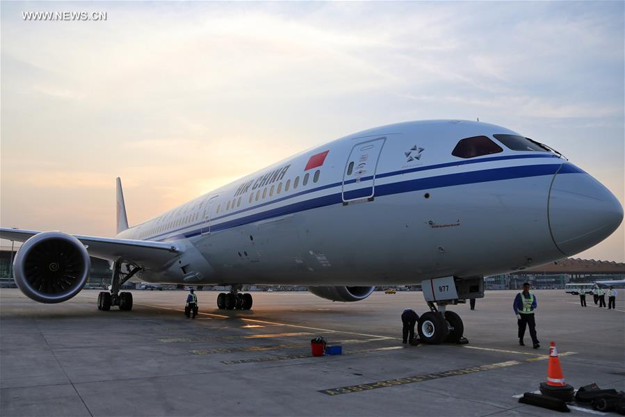 Air china receives 1st boeing 787 9 dreamliner 10 peoples daily correctionchina beijing air china boeing 787 9 dreamliner publicscrutiny Images
