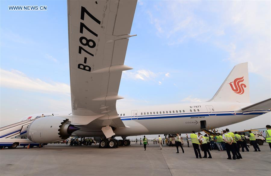 Air china receives 1st boeing 787 9 dreamliner 11 peoples daily china beijing air china boeing dreamliner cn publicscrutiny Images