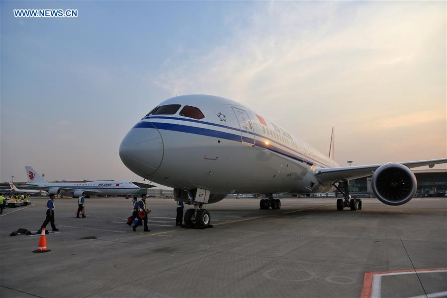 Air china receives 1st boeing 787 9 dreamliner 8 peoples daily china beijing air china boeing 797 9 dreamliner cn publicscrutiny Images