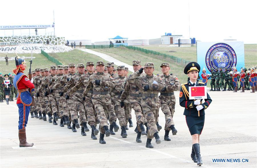 Mongolian Army Parade Chinese soldiers on pa...
