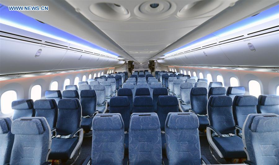 Air china 39 s boeing 787 9 aircraft makes 1st flight for Interior 787 dreamliner