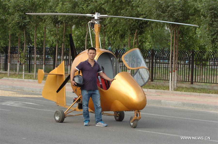 CHINA-SHIJIAZHUANG-VILLAGER-AIRPLANE(CN)