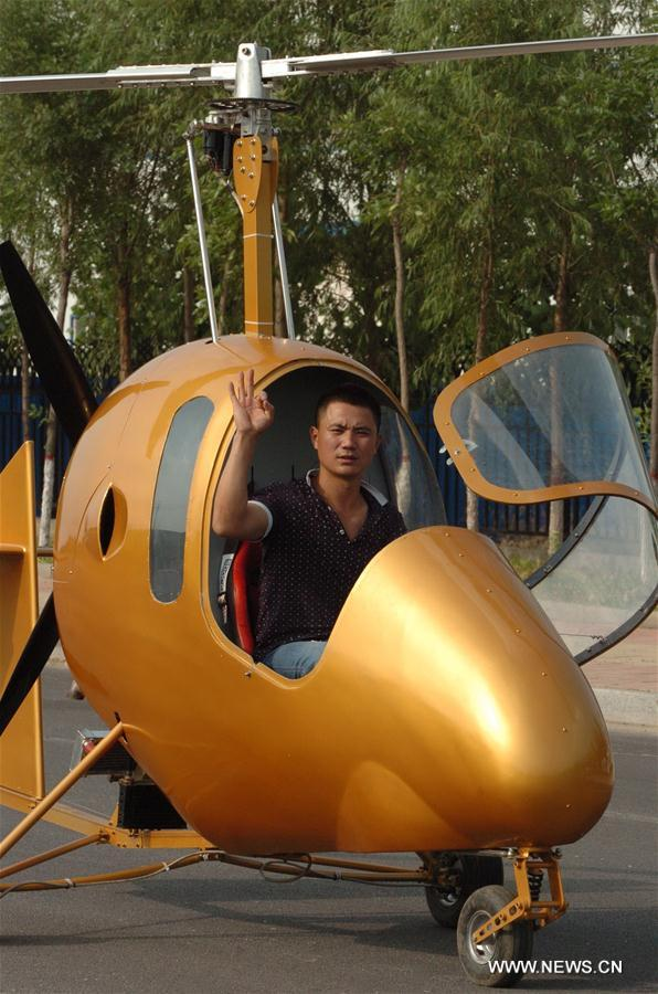 CHINA-SHIJIAZHUANG-VILLAGER-AIRPLANE(CN)