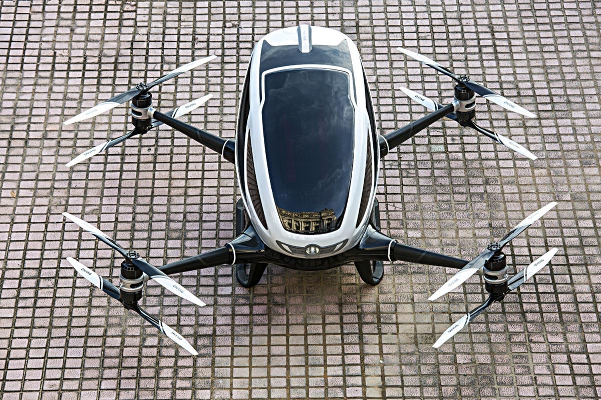 中国制造全球首款载客无人机将测试