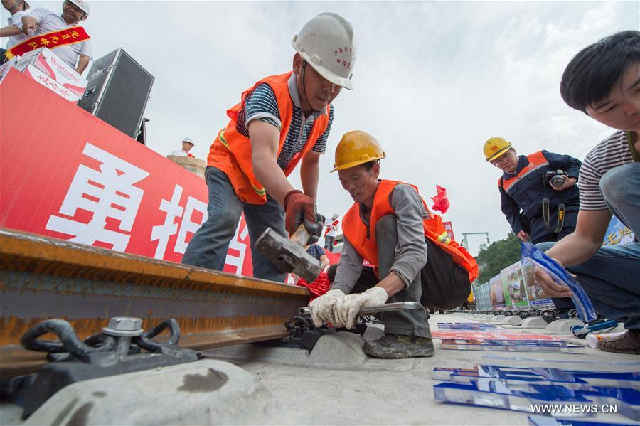 CHINA-GUIZHOU-HIGH-SPEED RAILWAY-CONSTRUCTION (CN)