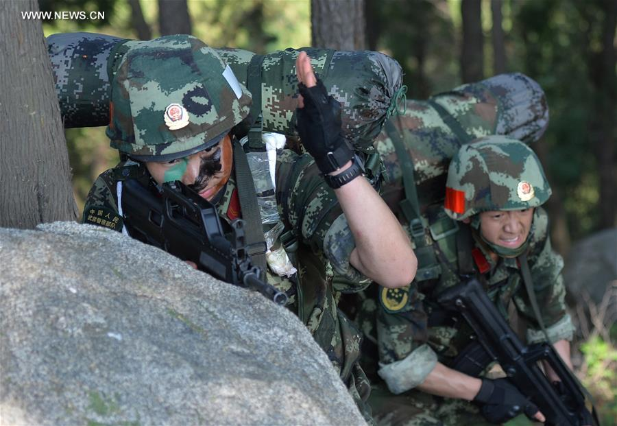 CHINA-SHANDONG-ARMED POLICE-TRAINING (CN)