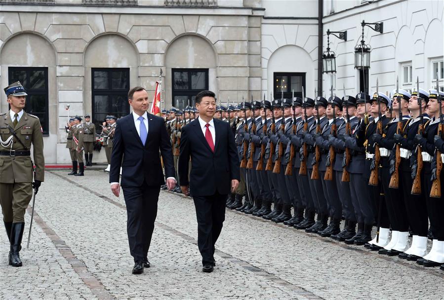 POLAND-WARSAW-CHINA-XI JINPING-WELCOMING CEREMONY