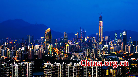 Shenzhen, Guangdong Province, one of the 'top 10 livable Chinese cities' by China.org.cn.