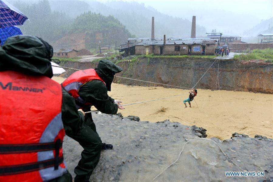 #CHINA-GUIZHOU-HEAVY RAIN-EVACUATION (CN)
