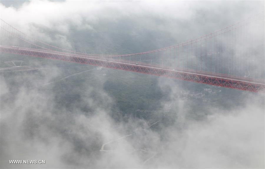 #CHINA-BRIDGES-MIST AND CLOUD (CN)