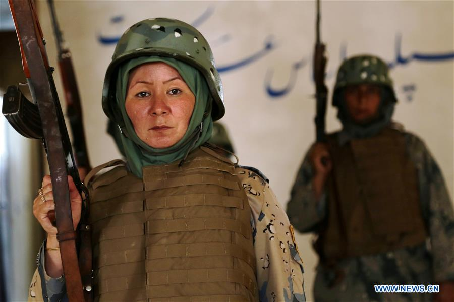 AFGHANISTAN-HERAT-BORDER POLICEWOMAN