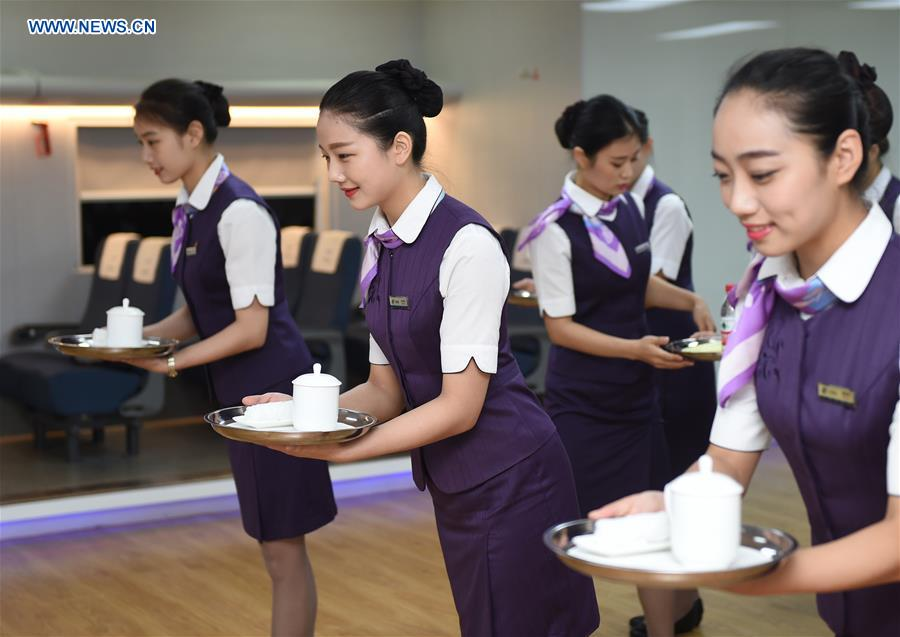 CHINA-HANGZHOU-BULLET TRAIN-STEWARDESS-TRAINING (CN)