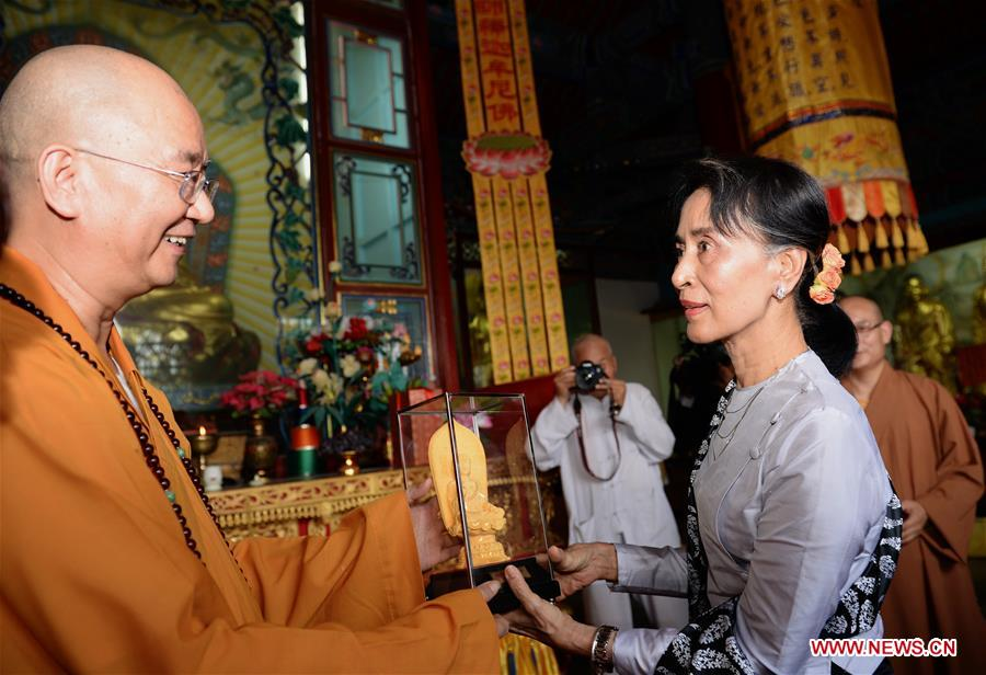 CHINA-SHAANXI-VISIT-AUNG SAN SUU KYI (CN)