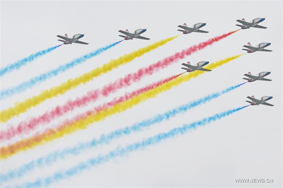 The open day aims to demonstrate the achievements of Chinese People's Liberation Army (PLA) air force and enhance the public awareness of aerospace safety.