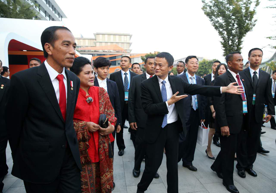 Foreign leaders visit Alibaba Xixi HQ